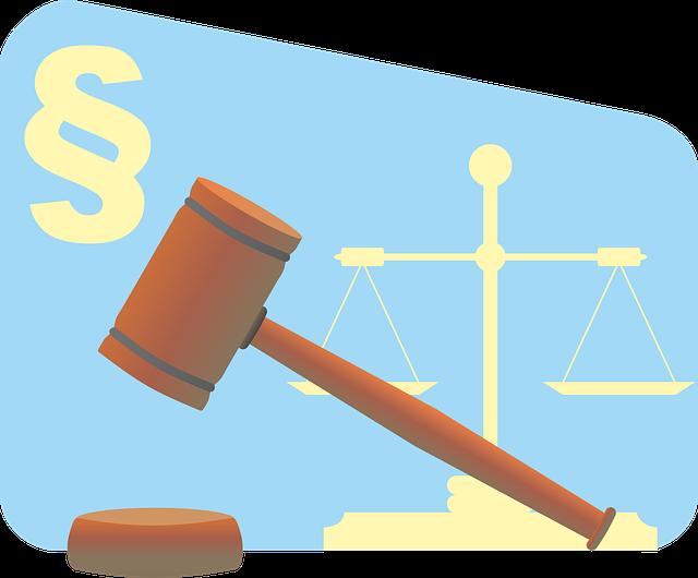 Waage und Richterhammer